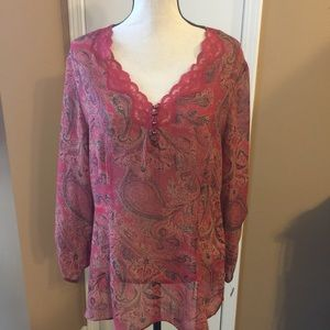 Emma & James Sheer Blouse Size 16